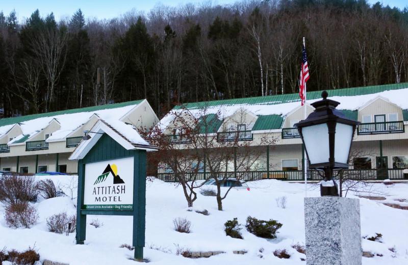 Exterior view of Attitash Marketplace Motel.