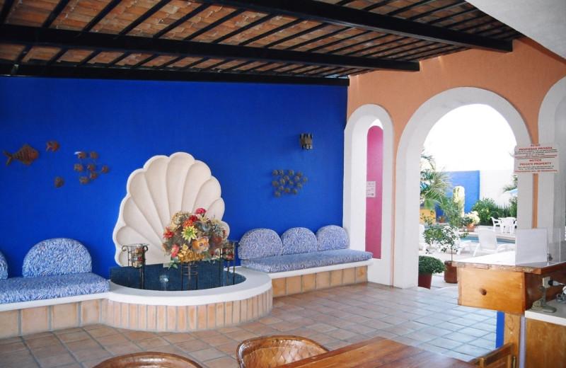 Lobby at Villa La Paloma.