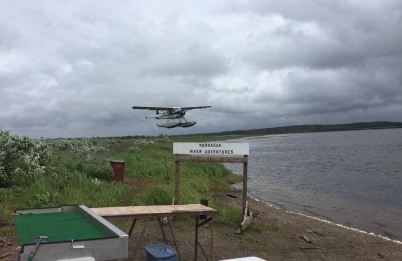 Boat plane at Nushagak River Adventure Lodge.