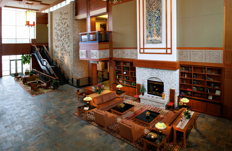 Lobby at Eaglewood Resort & Spa.