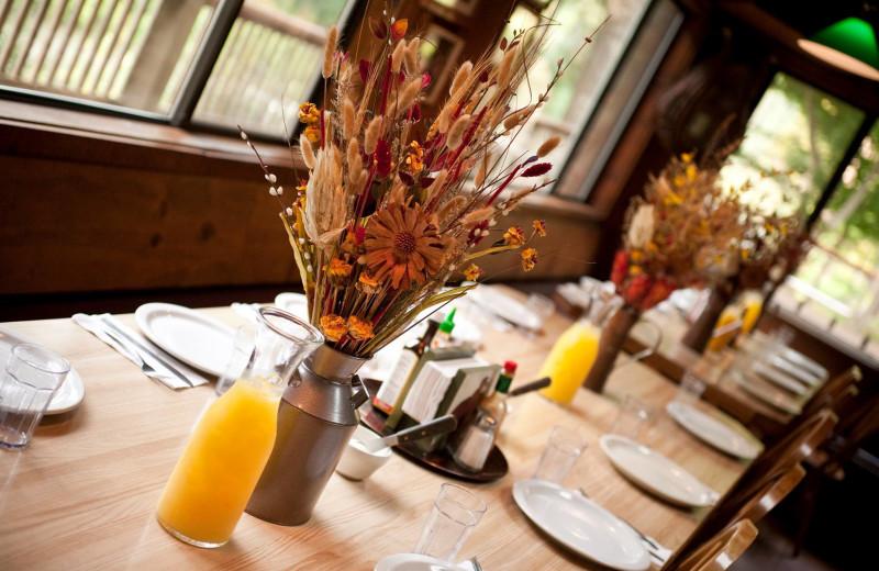 Dining at Half Moon Bar Lodge.