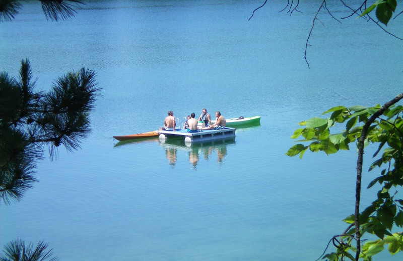 Lake activities at Sojourn Lakeside Resort.