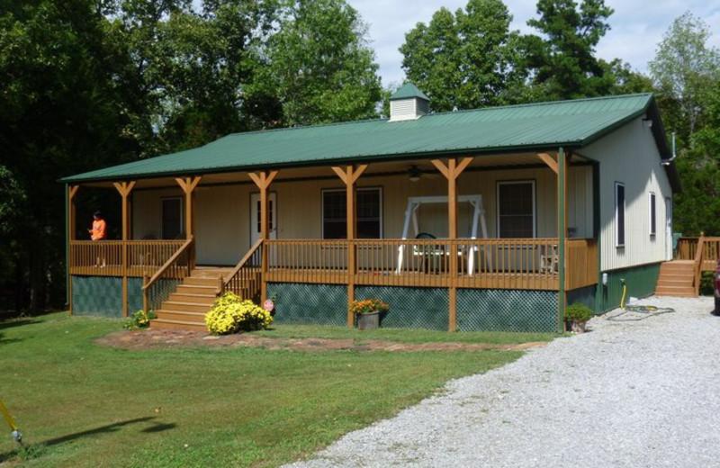 Cabin exterior at Willowbrook Cabins.