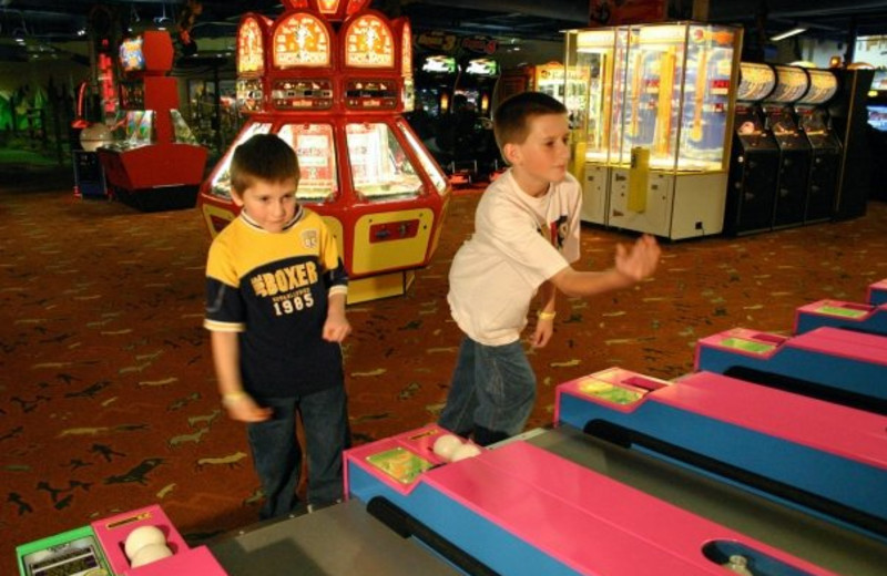 Arcade at Kalahari Waterpark Resort Convention Center.