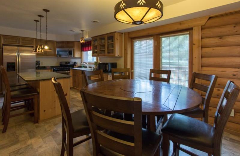 Guest kitchen at Warrens Lodging.