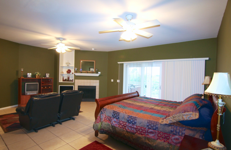 The Granite House Master Bedroom with King