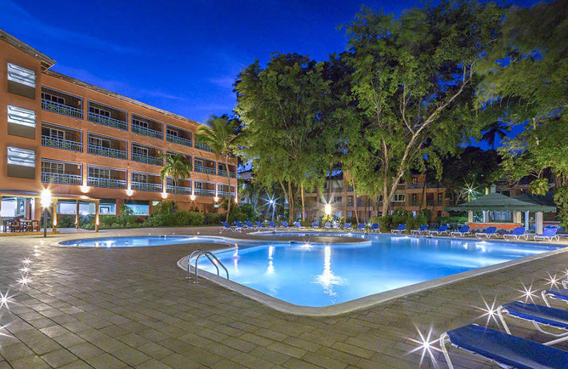 Outdoor pool at Don Juan Beach Resort - - Boca Chica Beach, Dominica.