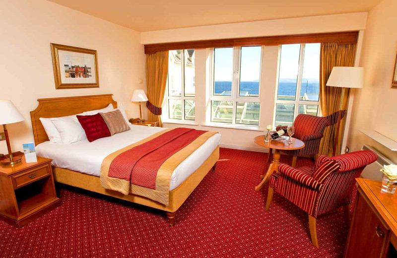 Guest room at Galway Bay Hotel Conference & Leisure Centre.
