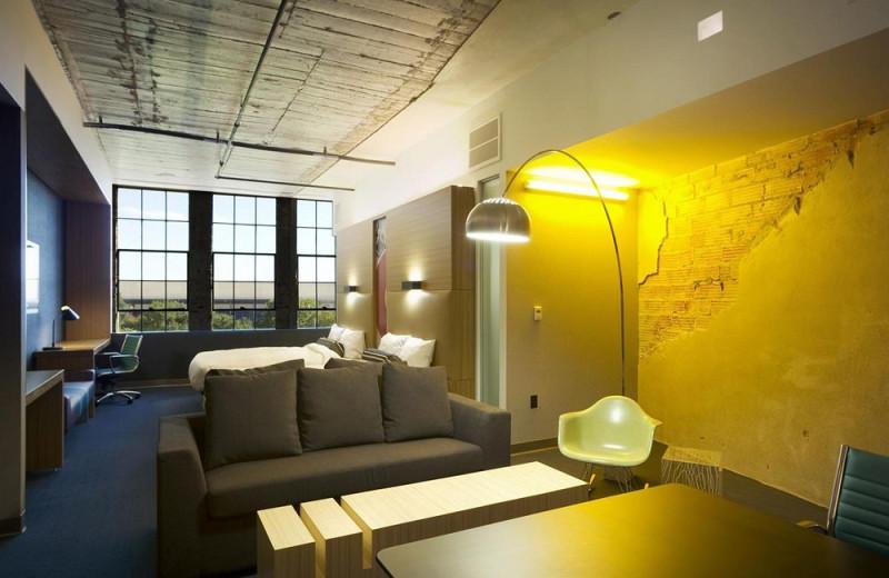 Guest suite at Aloft Dallas Downtown.