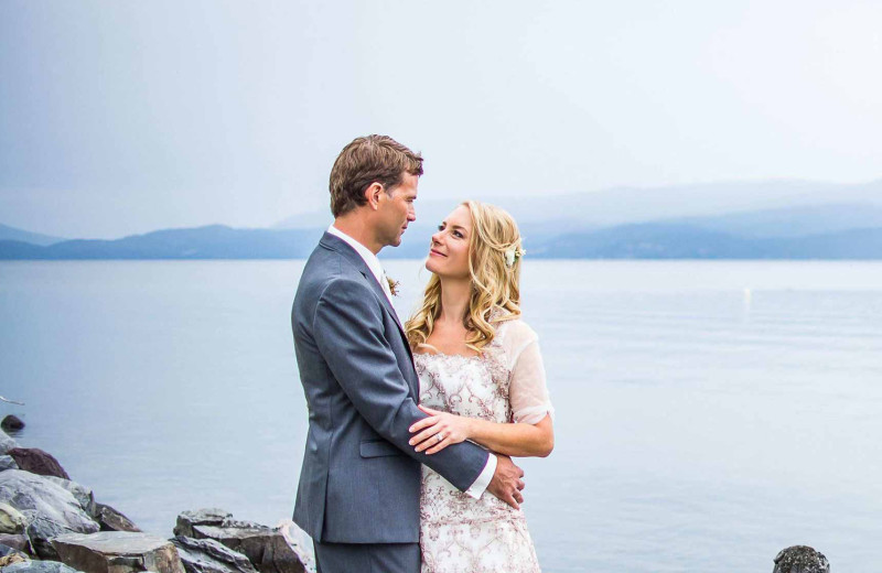 Couple at Averill's Flathead Lake Lodge.