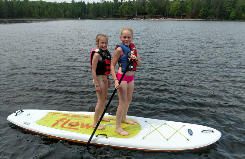 Paddle boards at Hiller Vacation Homes.