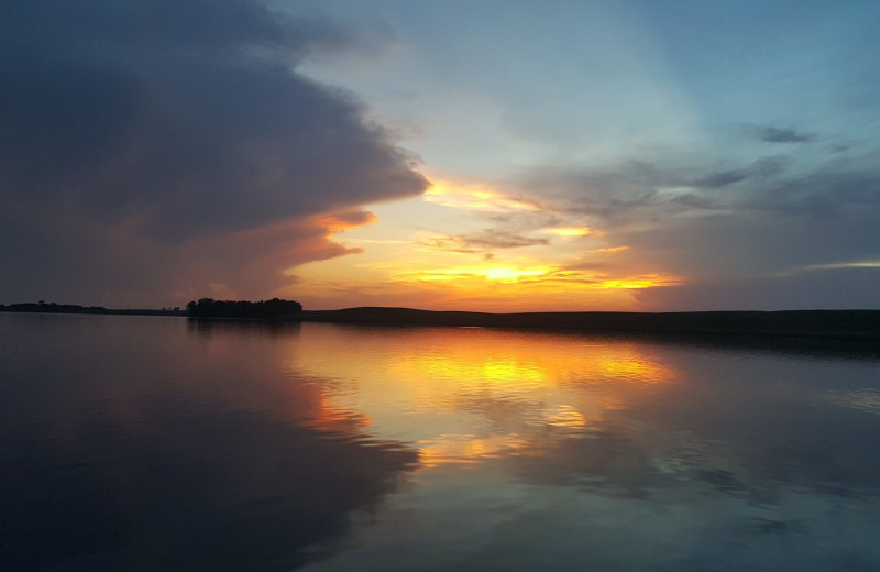 Sunset at Elm Lake Lodge.