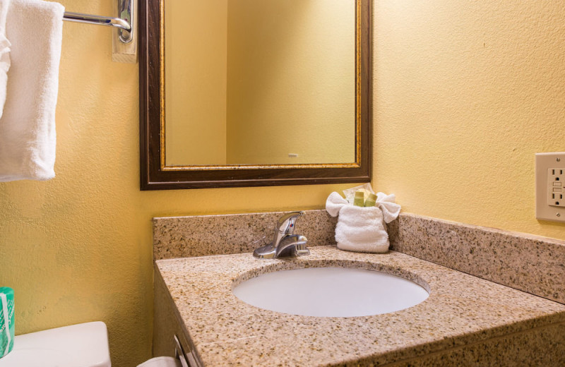 Guest sink at Aqua Breeze Inn.
