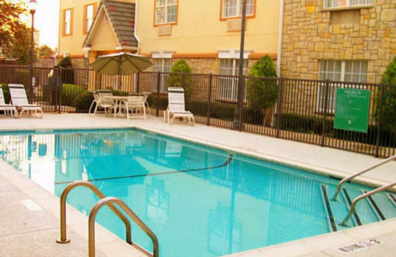 Outdoor pool at TownePlace Suites Dallas Plano.