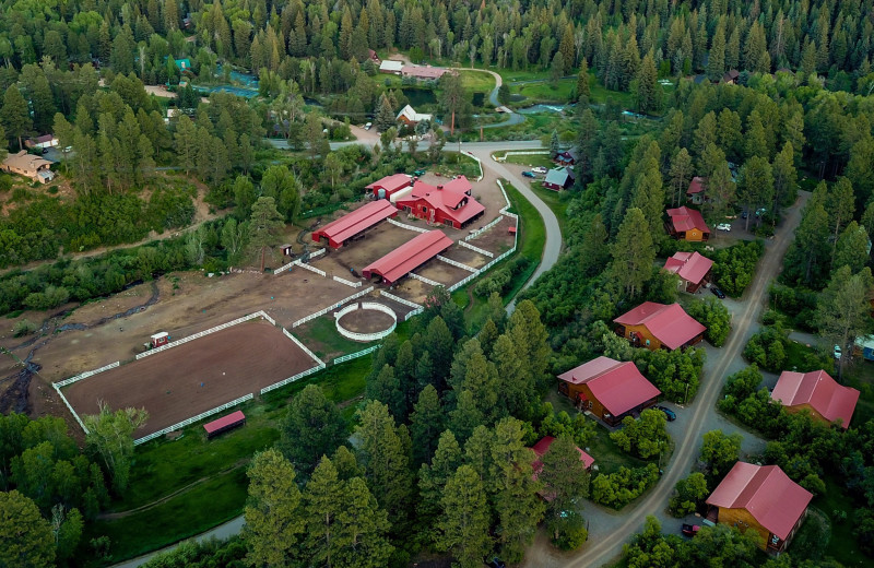 Aerial view of Colorado Trails Ranch.