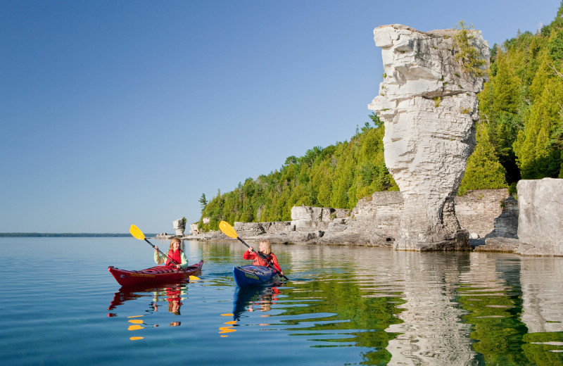 Kayaking near Great Blue Resorts- Cherry Beach Resort.