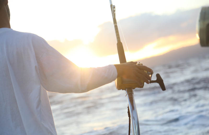 Fishing at Amelia Rentals and Management Services.