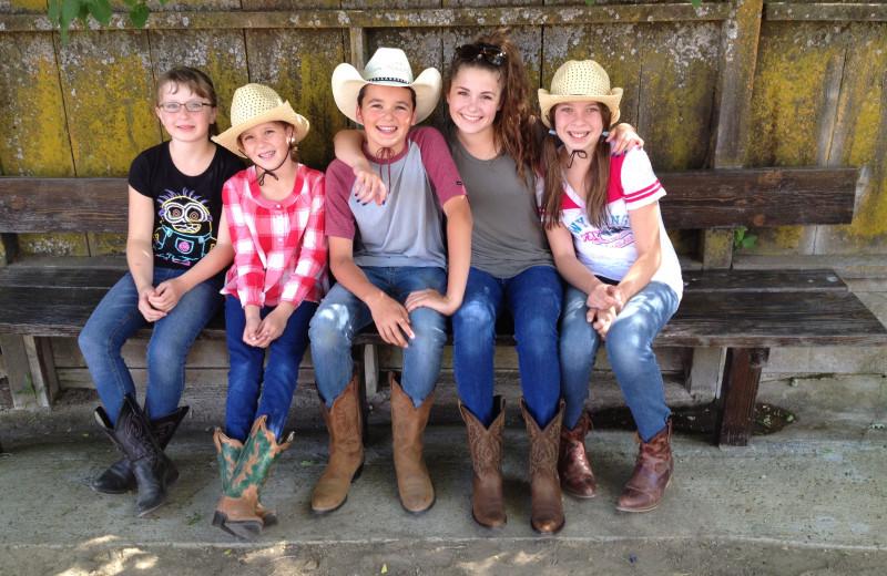 Family at Rankin Ranch.