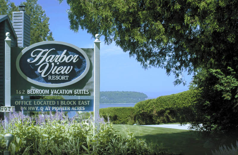 Entrance at Harbor View Resort.