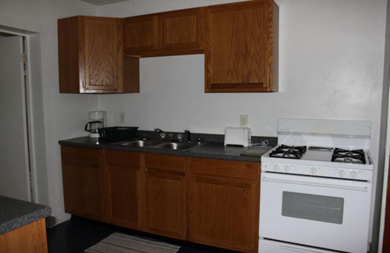 Kitchen view at Kentucky Beach Resort.