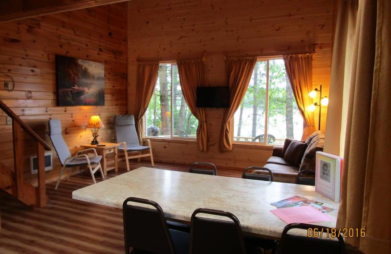 Cabin living room at Little Norway Resort.