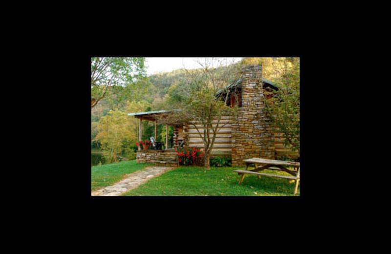Cabin exterior at Bare Farm Cabin.