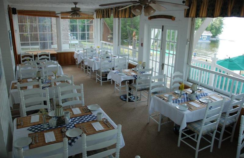 Lakeside dining at Shamrock Lodge.