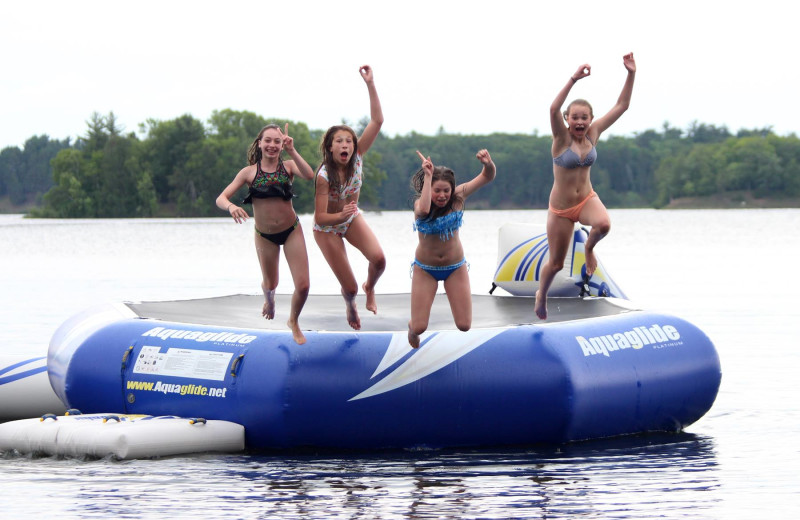 Water trampoline at Bay View Lodge.