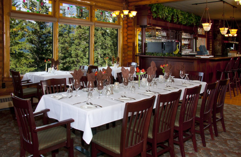 Dining at Overlander Mountain Lodge.