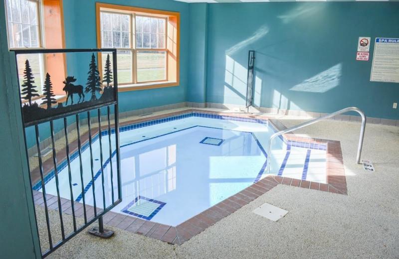 Hot tub at The Lodge at Giants Ridge.