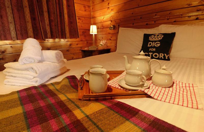 Cabin bed at Leny Estate.