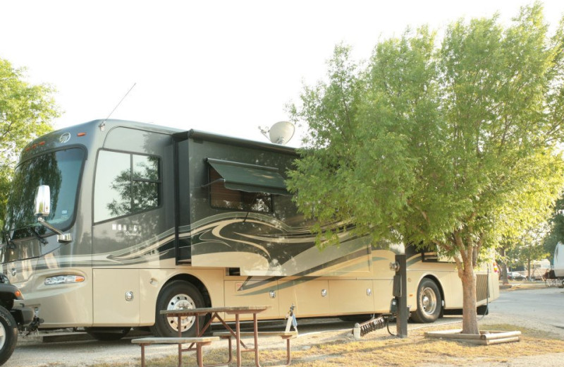 RV campground at Hill Country RV Resort & Cottage Rentals.