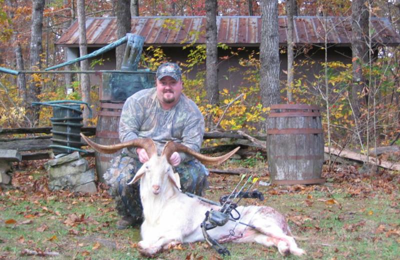 Angora Goat hunting at Caryonah Hunting Lodge.