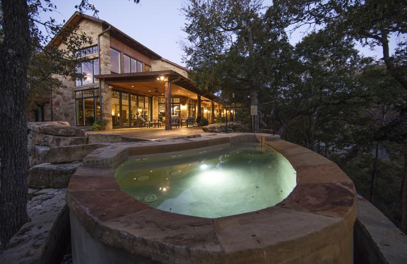 Guest house hot tub at Joshua Creek Ranch.