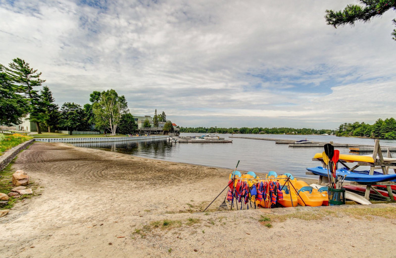 Beach at Delawana Resort.