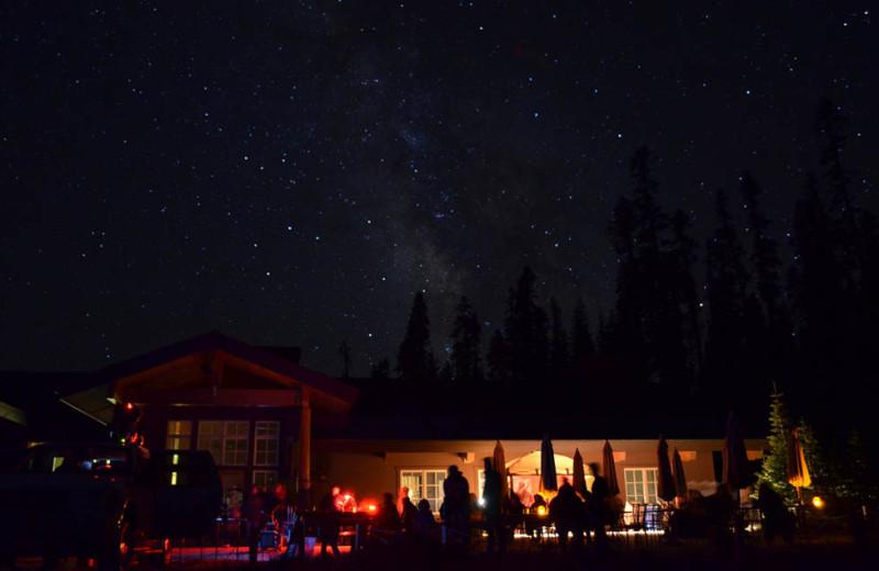 Starry sky at St. Bernard Lodge.