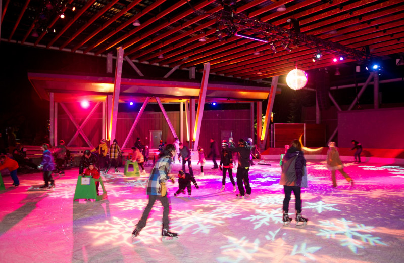 Ice skating at Crystal Lodge.