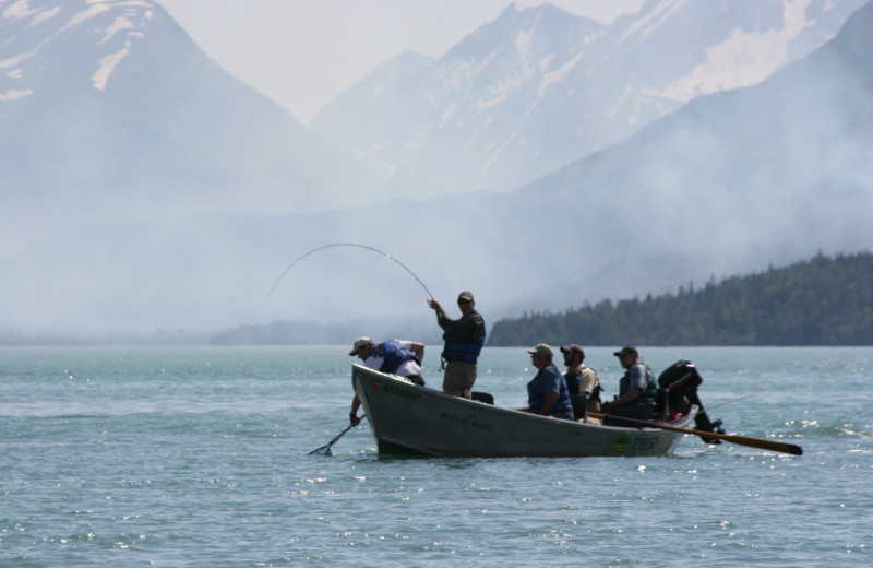 Fishing at Kenai Riverside Lodge.