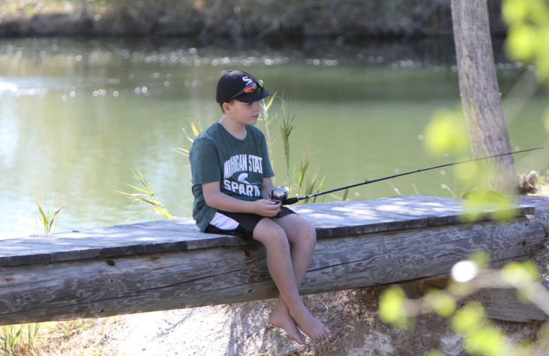 Fishing at Tanque Verde Ranch.
