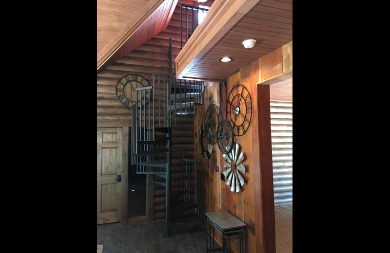 Cabin interior at Chateau Lake Logan.