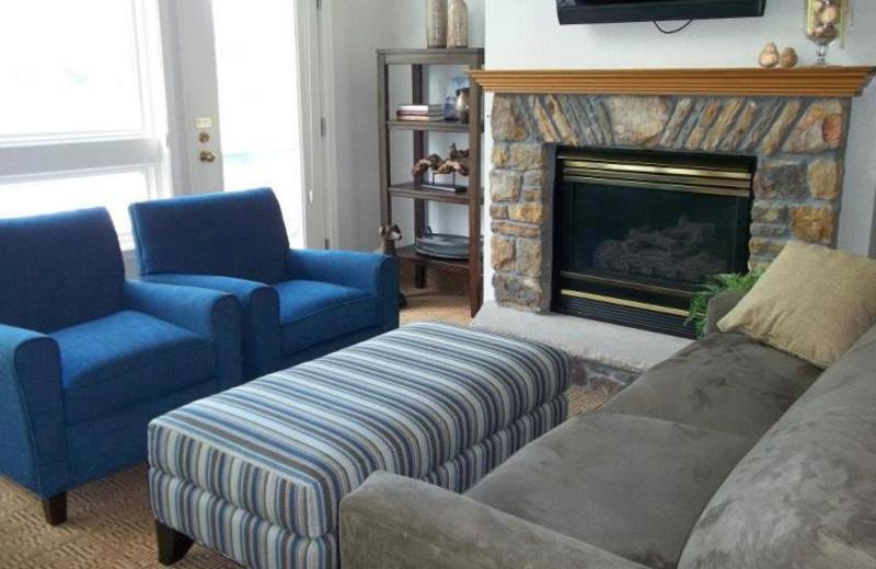 Suite living room at Fairway Suites.