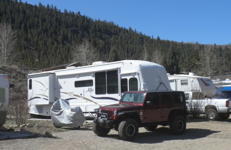 RV camp at Three Rivers Resort & Outfitting.