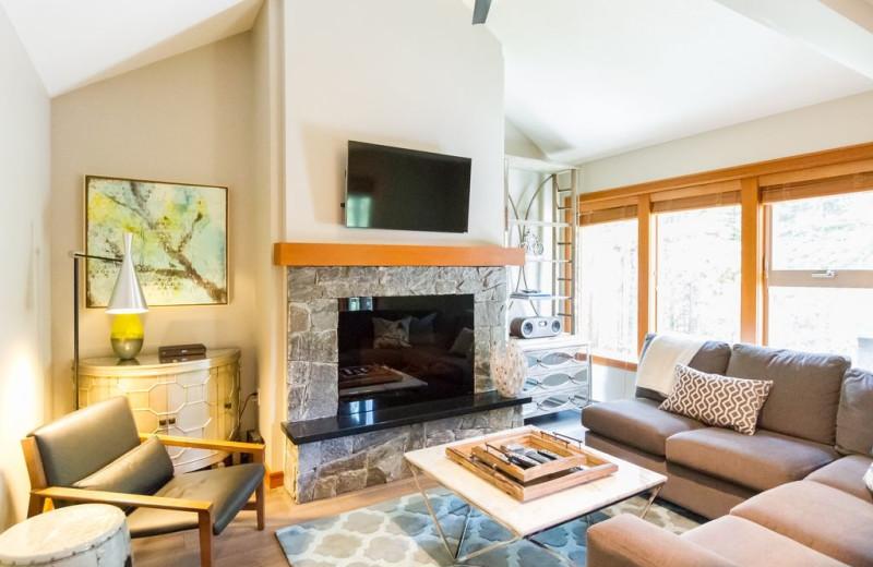 Rental living room at Whistler Breaks.