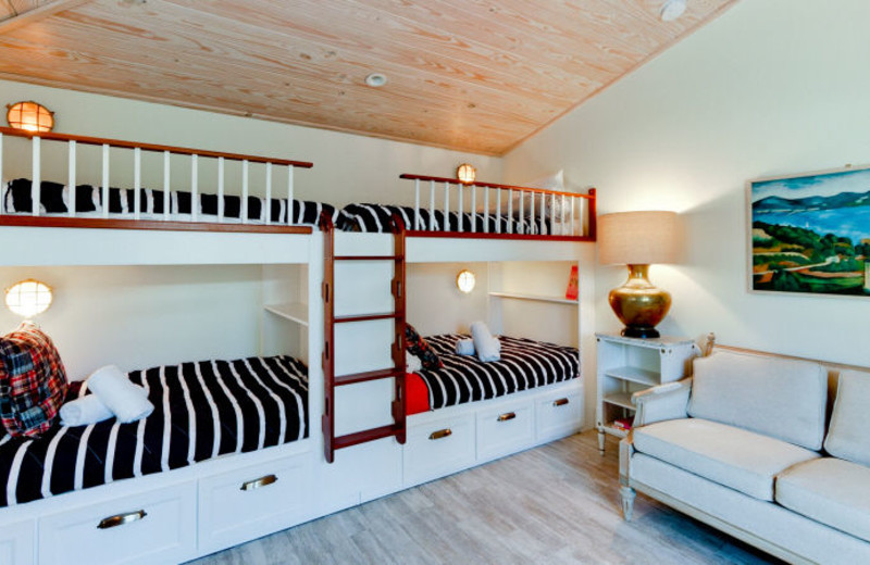 Rental bunk beds at Island Real Estate.