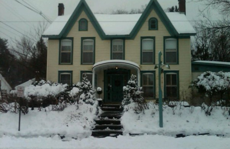 Winter at the Twin Gables of Woodstock.