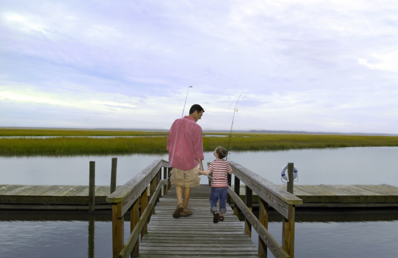 Fishing at The Villas of Amelia Island Plantation.