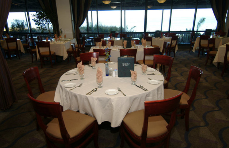 Dining area at Virginia Beach Resort Hotel.