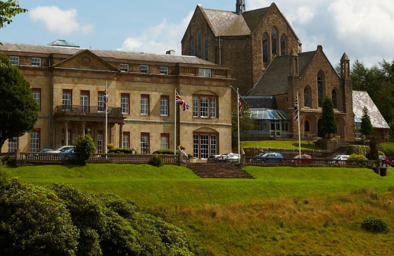 Exterior view of Shrigley Hall Hotel Golf & Country Club.
