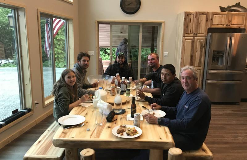 Dining at Screamin' Reels Lodge.
