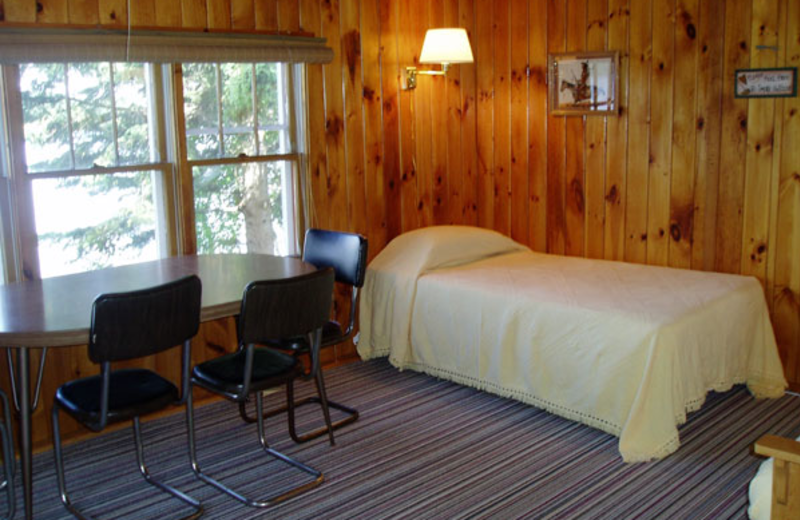 Cabin interior at Anderson's Resort.